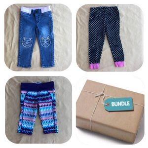 3 Pants Bundle Girls 2T